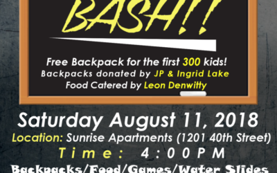 Sunrise Apartments – Backpack Giveaway!